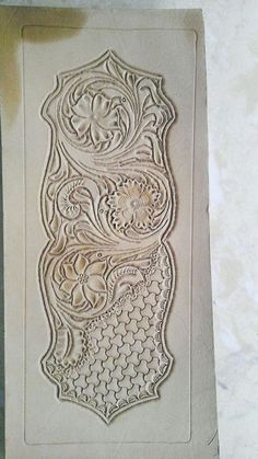 Leather Tooling short wallet pattern Carving patterns Leathercraft pattern No.1
