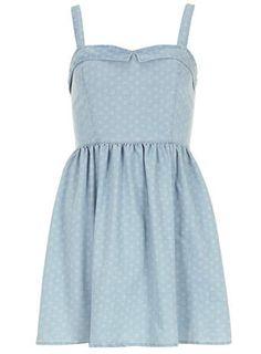 Denim sweetheart sun dress