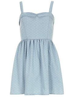 Denim sweetheart sun dress