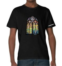 Banksy Stained Glass Window T-shirt    Simply Repin this T-shirt to be in with a chance of winning it!