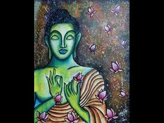 Buddha Paintings for Gorgeous Home Decor Buddha Drawing, Buddha Painting, Acrylic Painting Canvas, Abstract Canvas, Buddha Canvas, Shiva Art, Gun Art, Step By Step Painting, Texture Painting