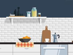 Kitchen Illustration by Nathan Manire