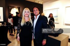 Monika Bacardi and David Kane attend the PHOTO France LA Issue Release Party At Mouche Gallery In Beverly Hills on April 29, 2015 in Beverly Hills, California.