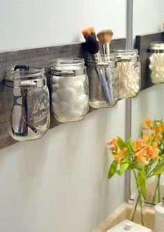 Mason Jar Beauty Organizer by MadhouseMolly on Etsy