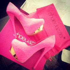 Well let's at least hope these come from Shoe Dazzle considering the box Sexy High Heels, Blue High Heels, Silver High Heels, Gold Heels, Gold Wedges, Hot Pink Heels, Yellow Heels, Pink Shoes, Pink Pumps