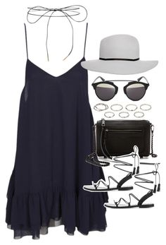 """""""Outfit for summer with a dress"""" by ferned ❤ liked on Polyvore featuring One Teaspoon, Rebecca Minkoff, ASOS, Christian Dior, Lilou, Anine Bing and Akira"""