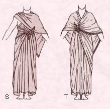 Egyptian Clothes. - Tie a sheet of unbleached linen around you in the following way.