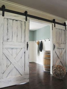 Rustic stylish barn doors for your interior to add class as well as space to any doorway. These doors are made from solid wood and come in any color you would like! We use any Sherwin Williams or Glidden paint colors, however, if you find another color you would like instead please feel free to contact us and we will see what we can do! **** Hardware and installation is NOT included with the price listed. Doors are priced according to size, style and finish. Specialty sizes are welcome but…