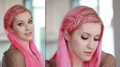 Inside out french fishtail braid tutorial - everyday hairstyle for fall 2013