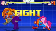 Spider-Man And Pinkie Pie VS Tinky-Winky The Teletubby & Hobgoblin In A MUGEN Match / Battle / Fight This video showcases Gameplay of Spider-Man The Superhero And Pinkie Pie From The My Little Pony Friendship Is Magic Series VS Tinky-Winky The Teletubby From The Teletubbies Series And Hobgoblin The Supervillain In A MUGEN Match / Battle / Fight
