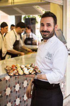Group Head Chef César García at Ibérica La terraza Al Fresco Dining, Tapas, Chef Jackets, Bakery, Breakfast, Morning Coffee, Bakery Business, Bakeries