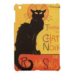 Tournée du Chat Noir, Steinlen Black Cat Vintage iPad Mini Covers