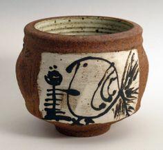 "Otto Heino, bowl, 1981, ceramic, 6 x 6.5"". From the estate of Angela Fina."
