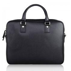 Black Leather Briefcase Bag For Men - Briefcase - Milry Business Bag