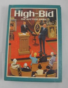 Vintage 3M Bookshelf Games High-Bid The Auction Game Complete 1965 all ages #3M
