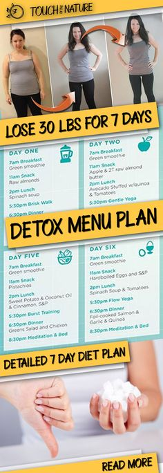 Low Energy Remedies Lose 30 Pounds With This Great Sugar Detox Menu Plan! Sugar Detox Cleanse, 7 Day Sugar Detox, Sugar Detox Recipes, Reduce Weight, How To Lose Weight Fast, Green Breakfast Smoothie, Gentle Detox, Bad Carbohydrates, Keto