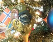 Large Norwegian Rosemaled Christmas Ornament