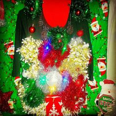 Check out this item in my Etsy shop https://www.etsy.com/listing/207858133/ugly-christmas-sweaterfezziwigs