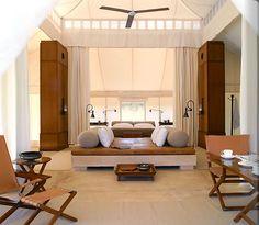 natural modern interiors: Glamping & Luxury Tents :: Aman-i-Khas, Rajasthan