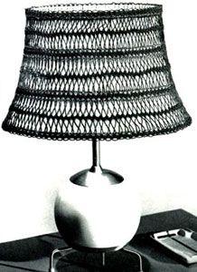Abas-jour de lamp crocheté à la fourche