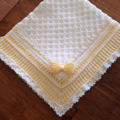 Crochet baby blanket or moses