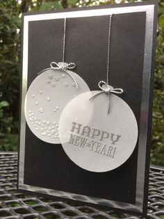 Eimear Carvill www.stampincolour.com CAS #147 New Year card with Stampin Up's Celebrate Today bundle