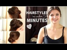 3 Hairstyles in Under 5 Minutes | Back to School - YouTube