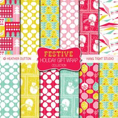 Festive Holiday Gift Wrap Collection | Heather Dutton