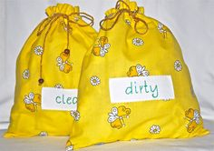 Yellow travel lingerie bags by bamabags on Etsy