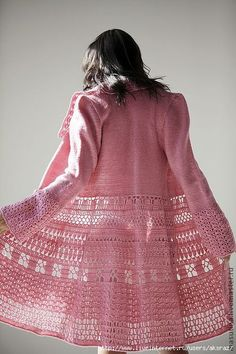 A summer coat crochet idea. Crochet Jacket Pattern, Crochet Coat, Crochet Clothes, Crochet Lace, Easy Crochet, Lace Cardigan, Lace Jacket, Crochet Fashion, Beautiful Crochet