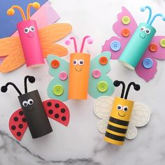 Bug Crafts, Daycare Crafts, Camping Crafts, Sunday School Crafts, Preschool Crafts, Rainy Day Crafts, Summer Crafts For Kids, Paper Crafts For Kids, Craft Activities For Kids