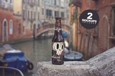 Beer on the Canl Mockup (duo) 2  by Pere Esquerrà on @creativemarket