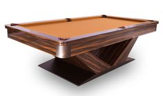 Modern Luxor Contemporary Billiards and Pool Table in Room Custom Pool Tables, Modern Pools, Billiard Room, Table Accessories, California Homes, Red Oak, Home Entertainment, Luxor, Wood Construction