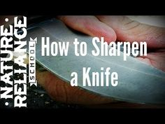 How to Sharpen a knife. - YouTube