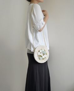 MISS Rainy Field  flower purse by overdo on Etsy, $60.00