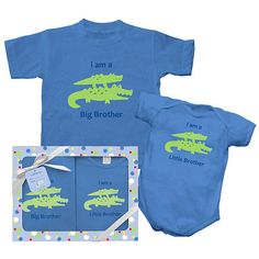 I Play Brother & Sister Gift Set - Alligator (Newborn & Toddler Sizes)