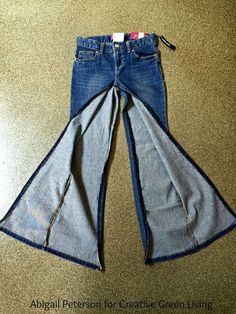 How to Make a Skirt from an Old Pair of Jeans ~ Creative Green Living