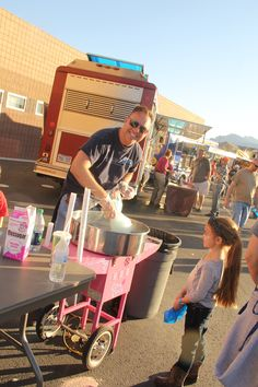 Elementary School Carnival Cotton candy fundraiser