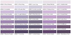 lavender paint colors chart | ... Colors - Paint Chart, Chip, Sample, Swatch, Palette, Color Charts