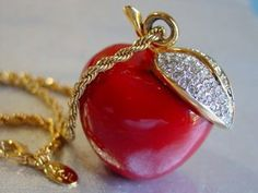 KJL Red Apple Pendant
