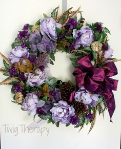 Luxury Fall Door   OOAK Wreath   By TwigTherapy On Etsy