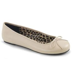 04a87d4ca Larger size Fancy Cream Ballet Flat Shoes in Plus sizes 9 up to 16