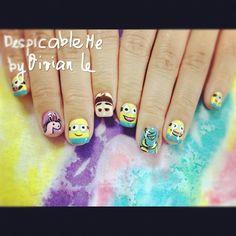despicable me unicorn nails - photo #23