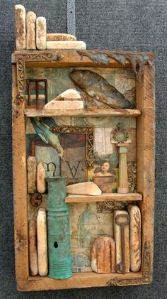 Stone carver creates assemblages.  http://www.haggardstudio.com/gallery-sculpture_assemblage.htm