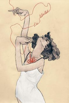 Egon Schiele, on dirait, paint on paper + ink, 1 ft, artist statement: fluidity of line