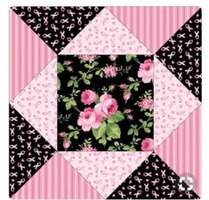 50 Ideas Patchwork Quilting Pink For 2019 – Qquilting 2020 Quilt Square Patterns, Quilt Block Patterns, Pattern Blocks, Square Quilt, Quilt Blocks, Scrappy Quilts, Easy Quilts, Patchwork Quilting, Quilting Projects