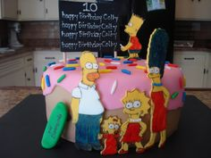 Doh! The Simpsons Fondant Cakes Springfield Mo by Celebrations by Sonja