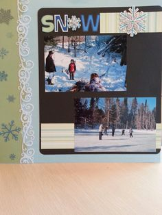 Snow scrapbook page