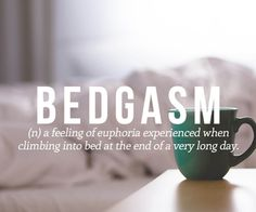 Especially when you climb into fresh line-dried sheets. Heavenly.