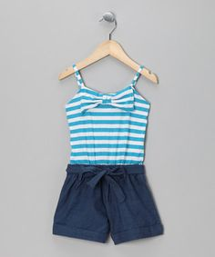 Royal Stripe Romper